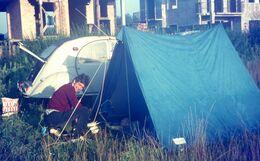 """2 CV CITROEN - """"en Camping"""" 1970 - Diapositives"""