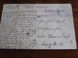 14-18: 1 Carte Vue De Beauraing Oblitérées GIVET (à Pont)  + Cachet De Bataillon - Guerra '14-'18