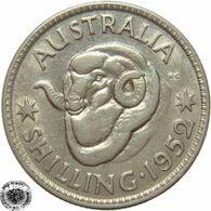 LaZooRo: Australia 1 Shilling 1952 XF / UNC - Silver - Sterling Coinage (1910-1965)