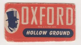 OXFORD HOLLOW GROUND   RAZOR  BLADE - Lames De Rasoir
