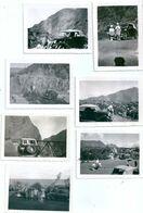 Photo Originale Lot De 13 Photos Ile De La Réunion Cilaos Vieille Voiture - Cars