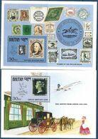 1990 BHOUTAN  BF 244-45** Penny Black, Concorde, Timbre Sur Timbre - Bhutan