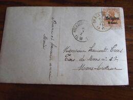 14-18: Carte Fantaisie Affranchie à 8 Cent Et Oblitérée GRACE-BERLEUR (postal) En 1918. - Guerra '14-'18