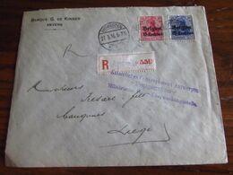 14-18: Lettre Recommandée à 35 Cent (25+10) Oblitérée ANTWERPEN 1 (à Pont) En 1916. Mention: KAISERLICHES GOUVERNEMENT A - Guerra '14-'18