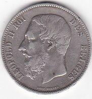 BEGIQUE 5 FRANCS 1871  LEOPOLD II EN ARGENT - 09. 5 Frank