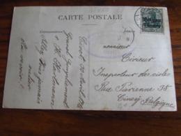 14-18: Carte Vue De GIVET à 5 Cent Oblitérée Idem (à Pont) En 1916. Censure Idem - Guerra '14-'18