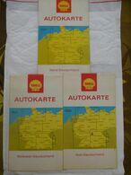 LOT De 3 CARTES : ALLEMAGNE Echelle 1/550000 : Nord, Südwest, Süd-Deutschland - SHELL TOURING SERVICE HAMBURG 1969 1999 - Roadmaps