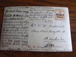 14-18: Carte Fantaisie Affranchie à 8 Cent Et Oblitérée ACHEL (postal).Censure De Hasselt - Guerra '14-'18
