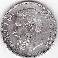 BEGIQUE 5 FRANCS 1875  LEOPOLD II EN ARGENT - 09. 5 Frank