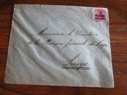14-18: Lettre à 10 Cent Oblitérée COUVIN (à Pont) En 1916. Censure De GIVET - Guerra '14-'18