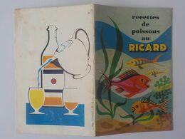 Dépliant Pub Ricard Recettes Poissons Au Ricard - Alkohol