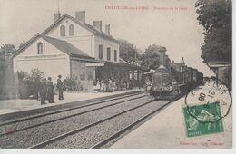 CPA Chatillon-sur-Loire - Intérieur De La Gare (très Belle Animation Avec Train En Beau Plan) - Chatillon Sur Loire