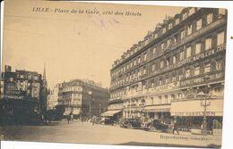 Lille LP Place De La Gare Coté Des Hotels Peu Courante TBE - Lille