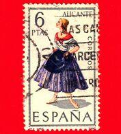 SPAGNA - Usato - 1967 - Costumi Regionali - Alicante - 6 - 1931-Aujourd'hui: II. République - ....Juan Carlos I