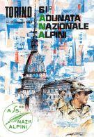 """01874 """"TORINO-61° ADUNATA NAZ.LE ALPINI- 14-15/05/1988-PRIMO GIORNO EMISSIONE"""" ANIMATA. CART  NON SPED - Manifestazioni"""