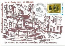 """MTAM """"Les Vans - La Grande Fontaine"""" Sur Carte CT Les Vans 1-2/10/2011 - Frankreich"""