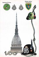 """01875 """"TO-BRIGATA ALPINA TAURINENSE-GIURAM.TO IN OCCASIONE 100RIO DEL 3° E 4° RGT. ALP.-1983"""" FIRMATA. CART  NON SPED - Manifestazioni"""