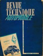 Revue Technique Automobile – RENAULT DCV - Tous Modèles De 1948 à 1957 – Description Technique Détaillée. 95 Pages. - Coches
