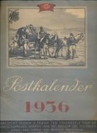Postkalender 1936 – 2 Schilderijen Per Maand En Publiciteit, Koloniale Loterij, Chocolade, Margarine SOLO - Tamaño Grande : 1921-40