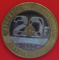 20 Francs , République Française, 1992, Mont Saint Michel. TTB - L. 20 Franchi