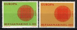 SAN MARINO - 1970 - EUROPA UNITA - CEPT - MNH - Saint-Marin