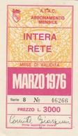 ABBONAMENTO ATAC ROMA MARZO 1976 (BY1765 - Week-en Maandabonnementen