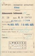 ABBONAMENTO STEFER 1975 Piega (BY1771 - Week-en Maandabonnementen