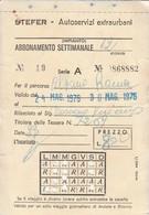 ABBONAMENTO STEFER 1976 Piega (BY1773 - Week-en Maandabonnementen