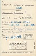 ABBONAMENTO STEFER 1975 Piega (BY1774 - Week-en Maandabonnementen