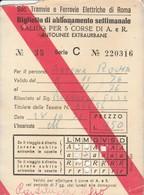 ABBONAMENTO TRAMVIE FERROVIE ELETTRICHE ROMA 1976 (BY1776 - Week-en Maandabonnementen