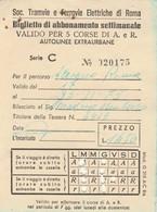 ABBONAMENTO TRAMVIE FERROVIE ELETTRICHE ROMA 1975 (BY1781 - Week-en Maandabonnementen