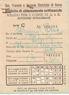 ABBONAMENTO TRAMVIE FERROVIE ELETTRICHE ROMA 1975 (BY1783 - Week-en Maandabonnementen