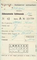 ABBONAMENTO STEFER 1977 Piega (BY1784 - Week-en Maandabonnementen