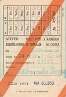 ABBONAMENTO STEFER 1976 Piega (BY1786 - Week-en Maandabonnementen
