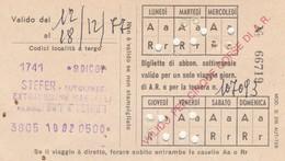 ABBONAMENTO STEFER 1977 (BY1790 - Week-en Maandabonnementen