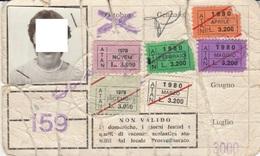ABBONAMENTO SCOLASTICO NAPOLI ATAN 1980 (foto Coperta Per Privacy Anche Se Di 40 Anni Fa) (cattivo Stato) (BY1799 - Week-en Maandabonnementen