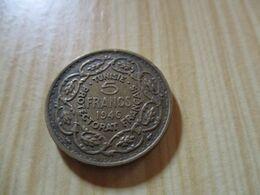 Tunisie - 5 Francs Muhammad VIII Al-Amin 1946.N°646. - Tunisia