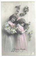 Fillettes Bonne Année 1911 Grete Reinwald Et Sa Soeur - Portraits