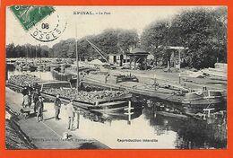 88 Epinal 1908 Le Port Avec Péniches Et Chargement TB Animée Beau Plan éditeur_Paul  Testart Dos Scanné - Epinal
