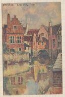 20A1142 Bruxelles, Quai De La Senne : Carte Officielle De L'expo De 1935. D'après L'aquarelle Du Peintre Cassiers - Maritime