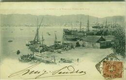PALERMO - IL PORTO CON VEDUTA DELLA CITTA - SPEDITA ALLA CONTESSA VIVIANI - 1900 ( 5793) - Palermo