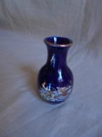 Vintage - Mini Vase Bleu Décoration Asiatique Années 80 - Autres