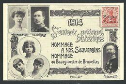 +++CPA - 1914 - Souvenir National Historique - Hommage à Nos Souverains Et Au Bourgmestre De BRUSSELLES - BRUSSEL // - Personaggi Famosi