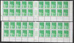 3091 2.70f. Vert LUQUET - 2 Bas Feuilles X 20  Type I - RGR 1 Du 20.07.98 Avec Repère à Gauche - RGR 1 Du 02.11.98 - 1997-04 Marianne (14. Juli)
