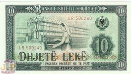 ALBANIA 10 LEKE 1976 PICK 43a UNC - Albania