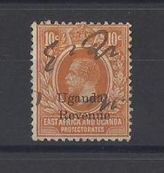 """K.U.T....."""" EAST AFRICA & UGANDA..""""...KING GEORGE V..(1910-36..)...10c.....WATERMARK CROWN ...REVENUE STAMP.... - Protectorats D'Afrique Orientale Et D'Ouganda"""