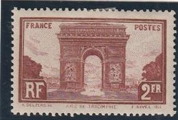 /// FRANCE --  N° 258 Arc De Triomphe Côte Ch 42€ - Nuevos