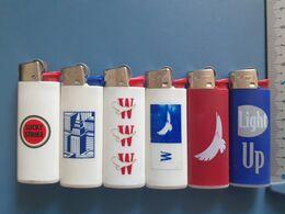 Briquet Publicitaire Usagé  - Bic - Lot De 6 Pub Tabacs - Andere