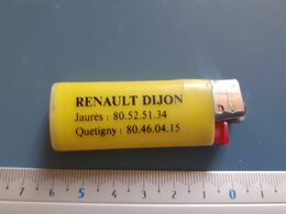 Briquet Publicitaire Usagé  - Bic - Renault Dijon - Autres