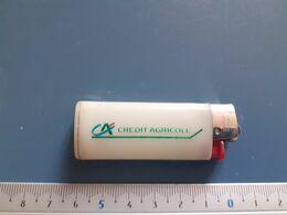 Briquet Publicitaire Usagé  - Bic - Crédit Agricole - Autres